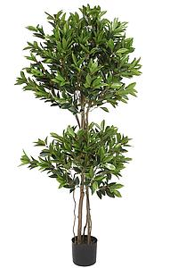 ARBOL DOBLE BOLA LAUREL ARTIFICIAL 165CM