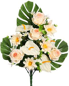 BOUQUET ANTHURIUM Y ROSAS ARTIFICIAL 50CM